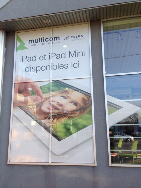 Multicom Communications - Habillage des vitrines