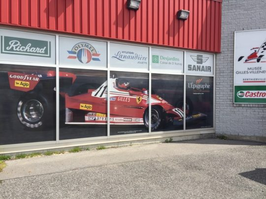 Vitrine Musee Gilles-Villeneuve
