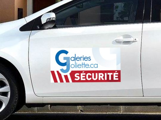 Galeries Joliette Securite plaque aimante